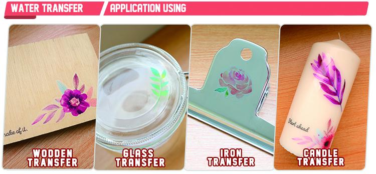Gratis monsters transfer laser printing water slide decal papier