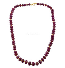Ruby melon beads necklace pretty woman fashion necklace