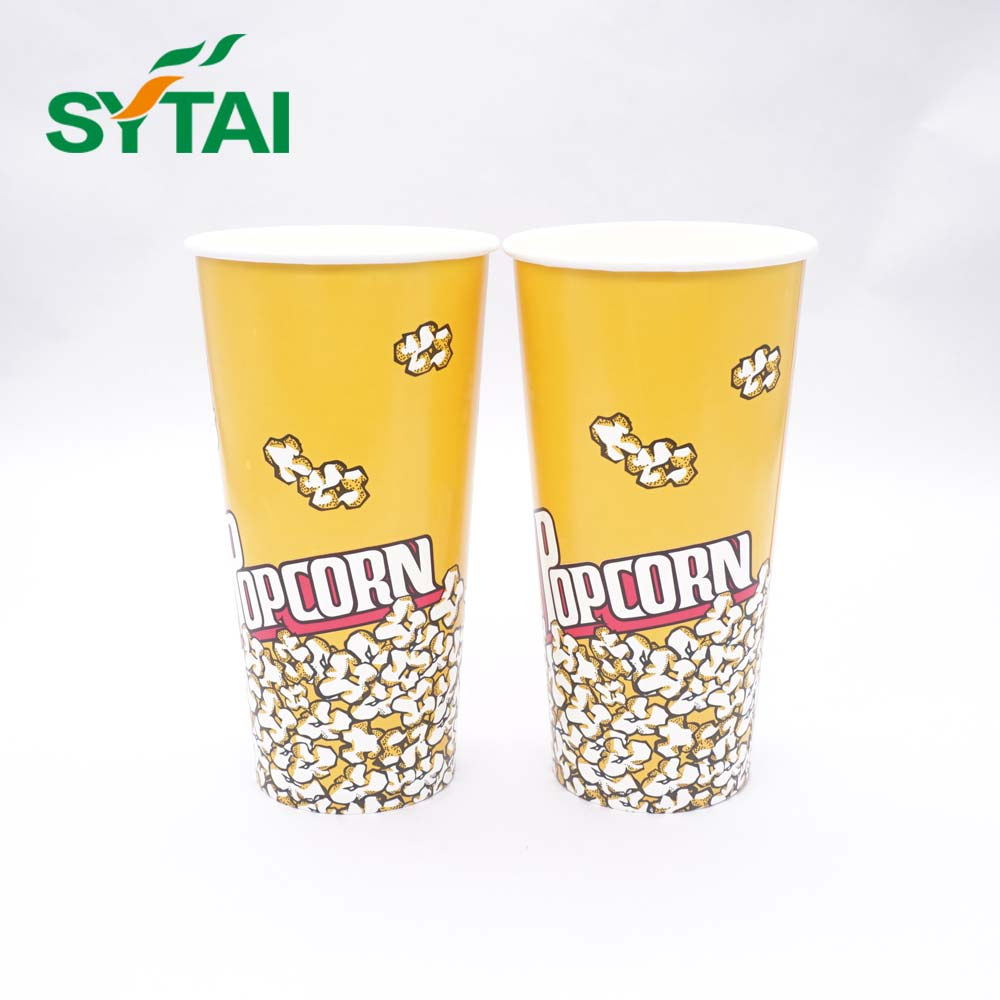 Wholesale Biodegradable Hot Selling Single Wall Paper Popcorn Bucket