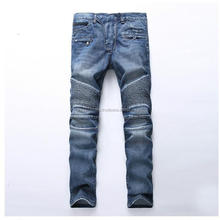 Hoge Kwaliteit Blauw Biker <span class=keywords><strong>Jeans</strong></span> Ripped Slim Hiphop Denim Broek <span class=keywords><strong>Heren</strong></span> <span class=keywords><strong>Jeans</strong></span>