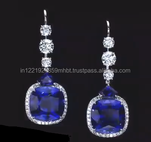 Real diamond earrings