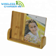 5*7 bamboo photo picture Frame With Wood Wireless Charging Stand pad