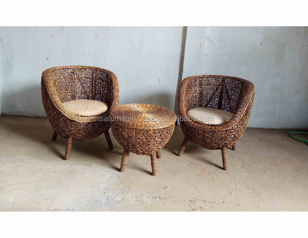 Natural Rattan Ball Lounge Chair Wicker Indoor Indonesia Furniture Products