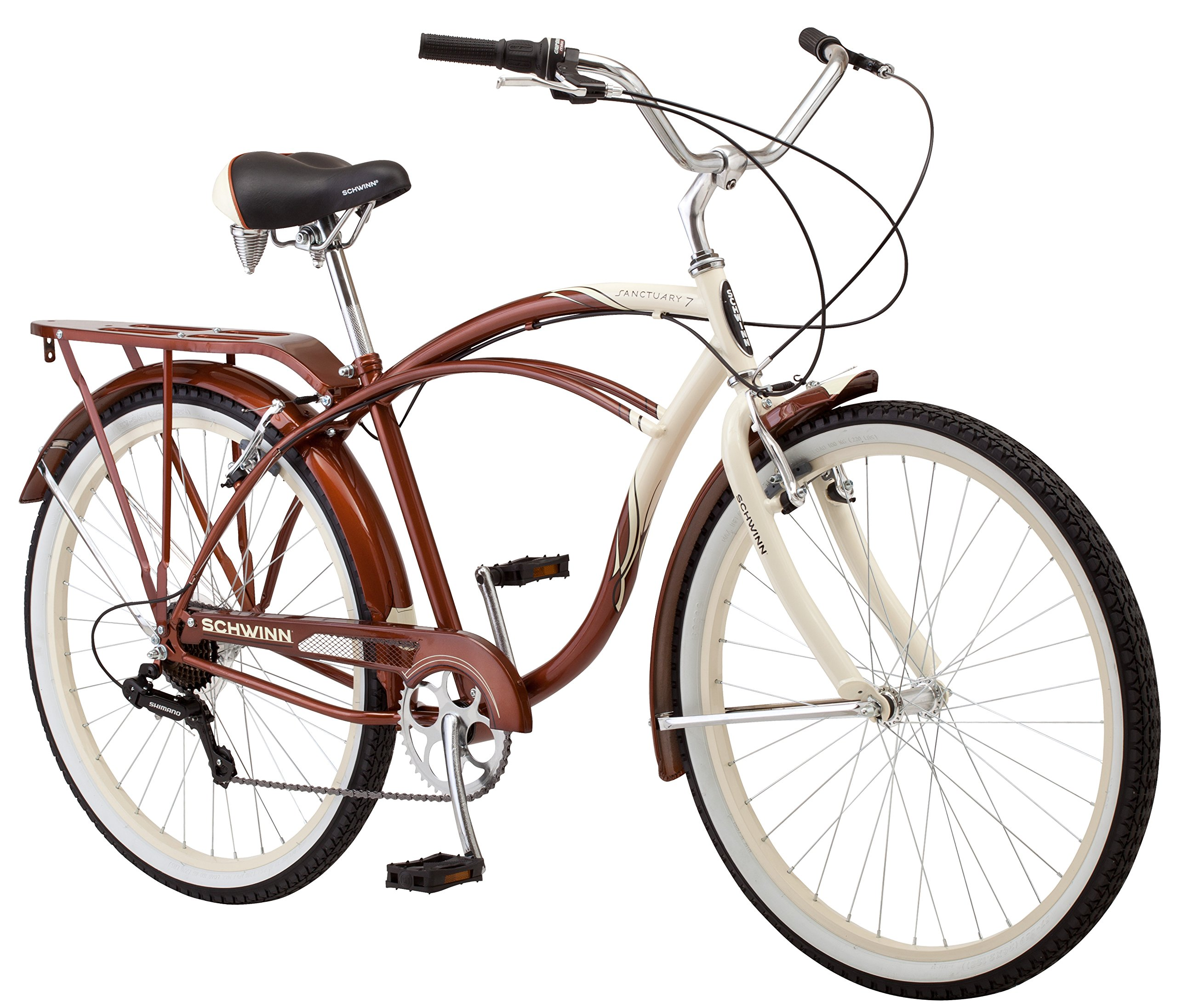 113bd4feea8 Get Quotations · Schwinn Men's Sanctuary 7-Speed Cruiser Bicycle (26-Inch  Wheels), Cream