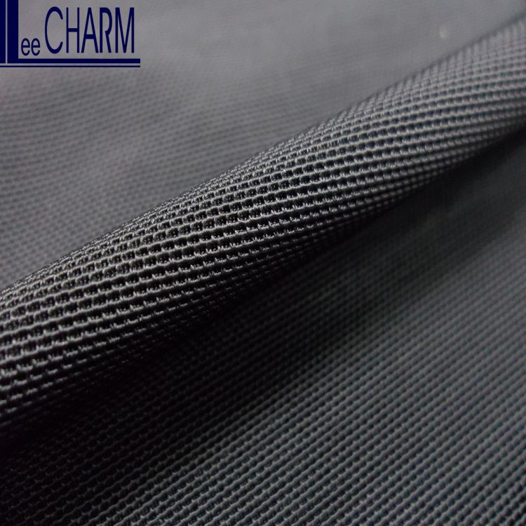 LCHD004 Taiwan 80 Nylon 20 Spandex Strong Elastic Stretch Black Power Mesh Fabric