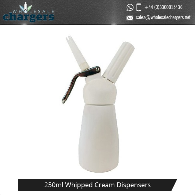 White Plastic Head 250ml Whipped Cream Dispensers