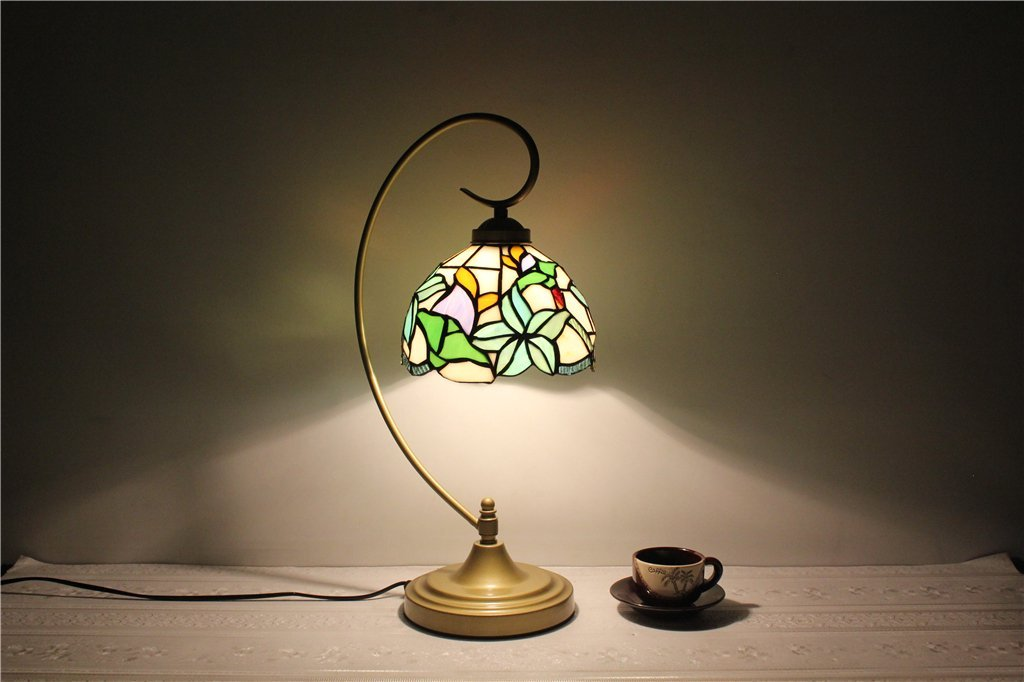 ALUS-8-inch pastoral creative minimalist American country living room dining room den bedroom bedside lamp