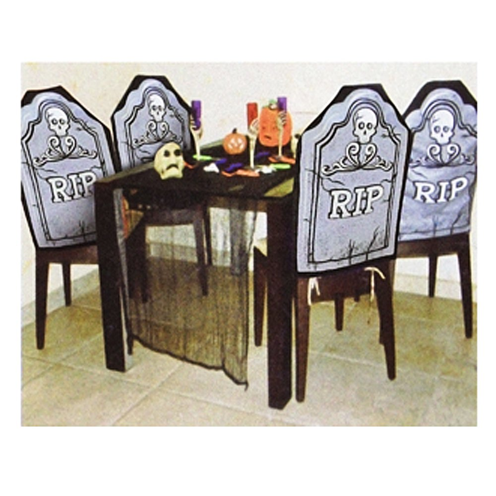 Strange Buy Halloween Rip Tombstone Chair Cover Decoration 4 Piece Caraccident5 Cool Chair Designs And Ideas Caraccident5Info