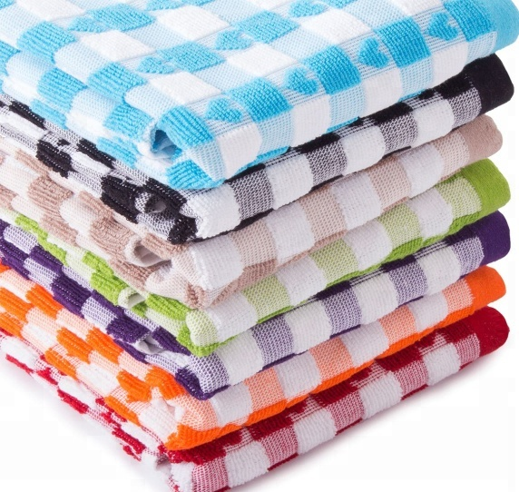 Low Cost Terry Tea Towels Kitchen Towels Dish Cleaning Cloth