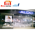 Taiwan PC Roller shutter Commercial Shop Front Motorized aluminium interior security shutters