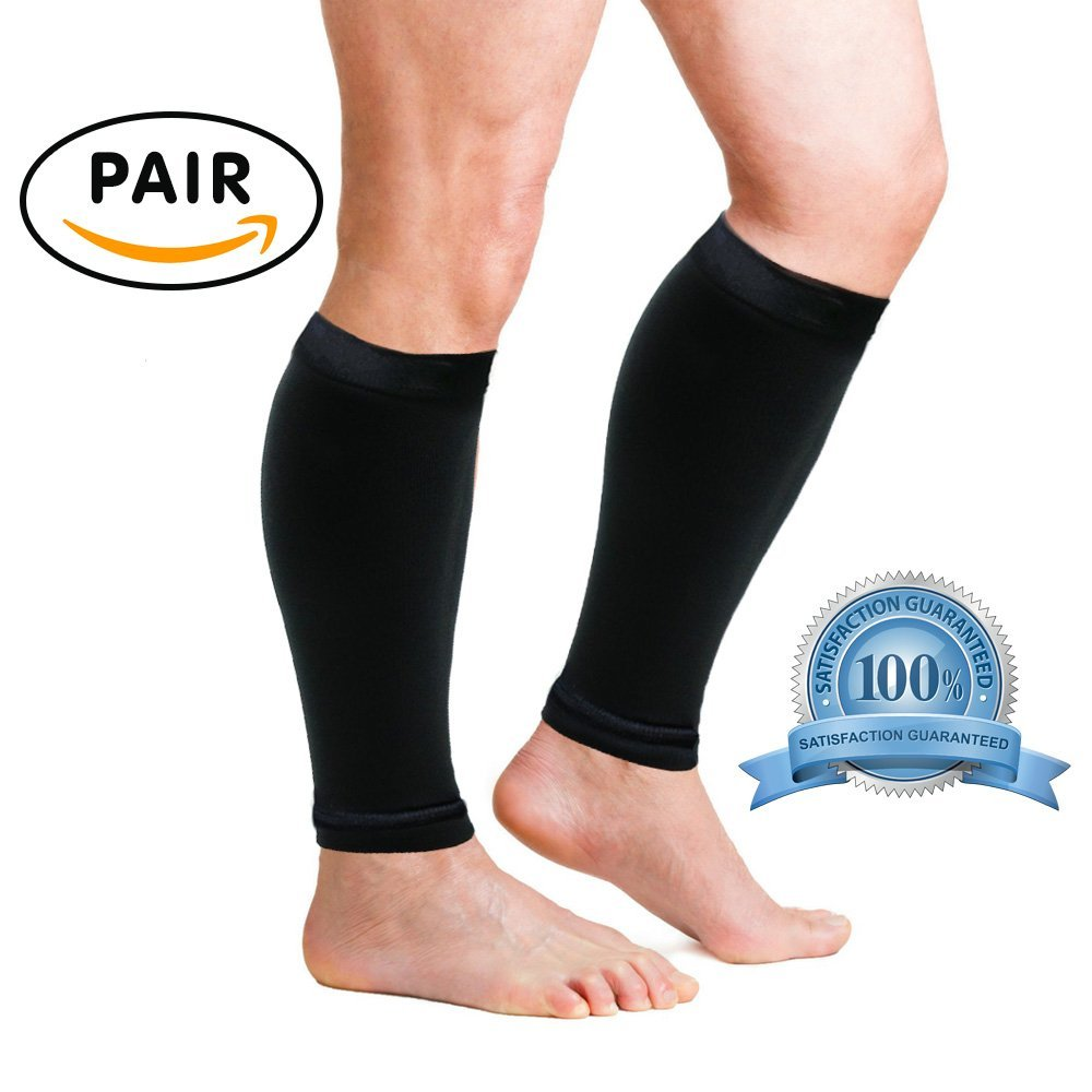 fe35e14fd9 Get Quotations · VivoPro Sports Pro-Style Calf Compression Sleeves Leg  Sleeves for Running, Basketball, Workouts