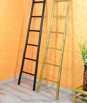 vente en gros d coratif bambou echelle bambou porte serviettes chelle chelle en bambou pour. Black Bedroom Furniture Sets. Home Design Ideas