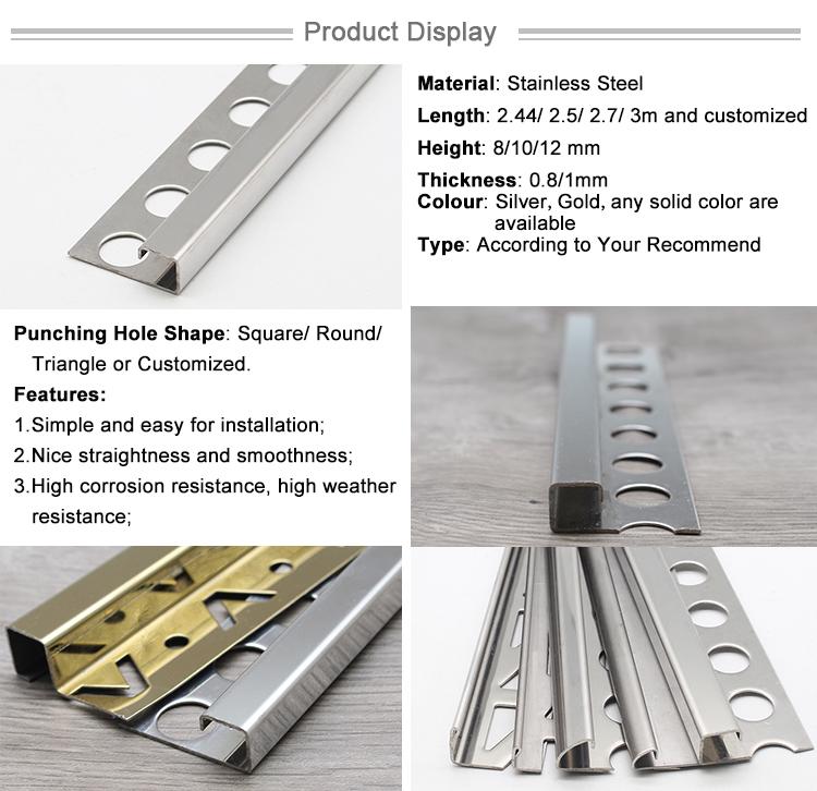 Dubai Building Material Floor Decorative Stainless Steel Trim