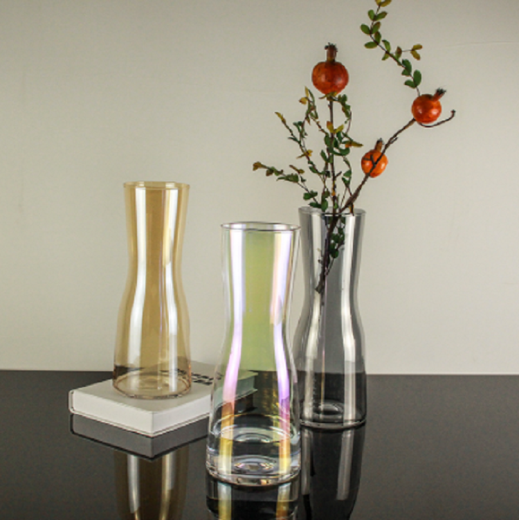 Wholesale clear glass vase hexagon cube glass vase