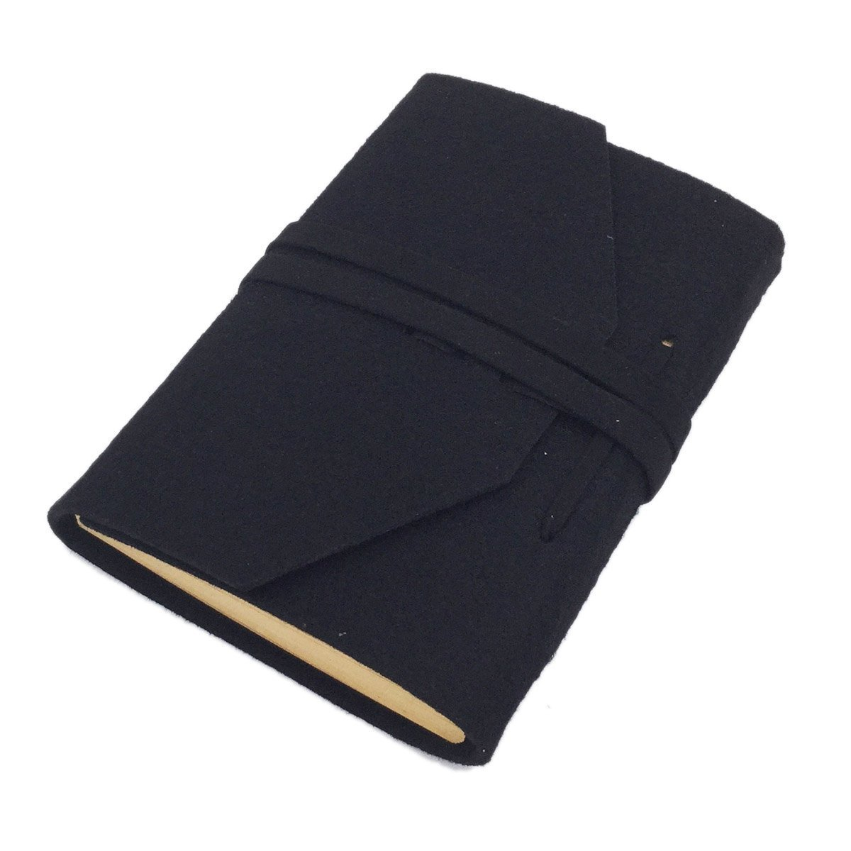 SAYEEC Retro Slim Felt Cover Hardcover Notebooks - Blank Paper Diary Travel Writing Journal Drawing Sketchbook Notebook