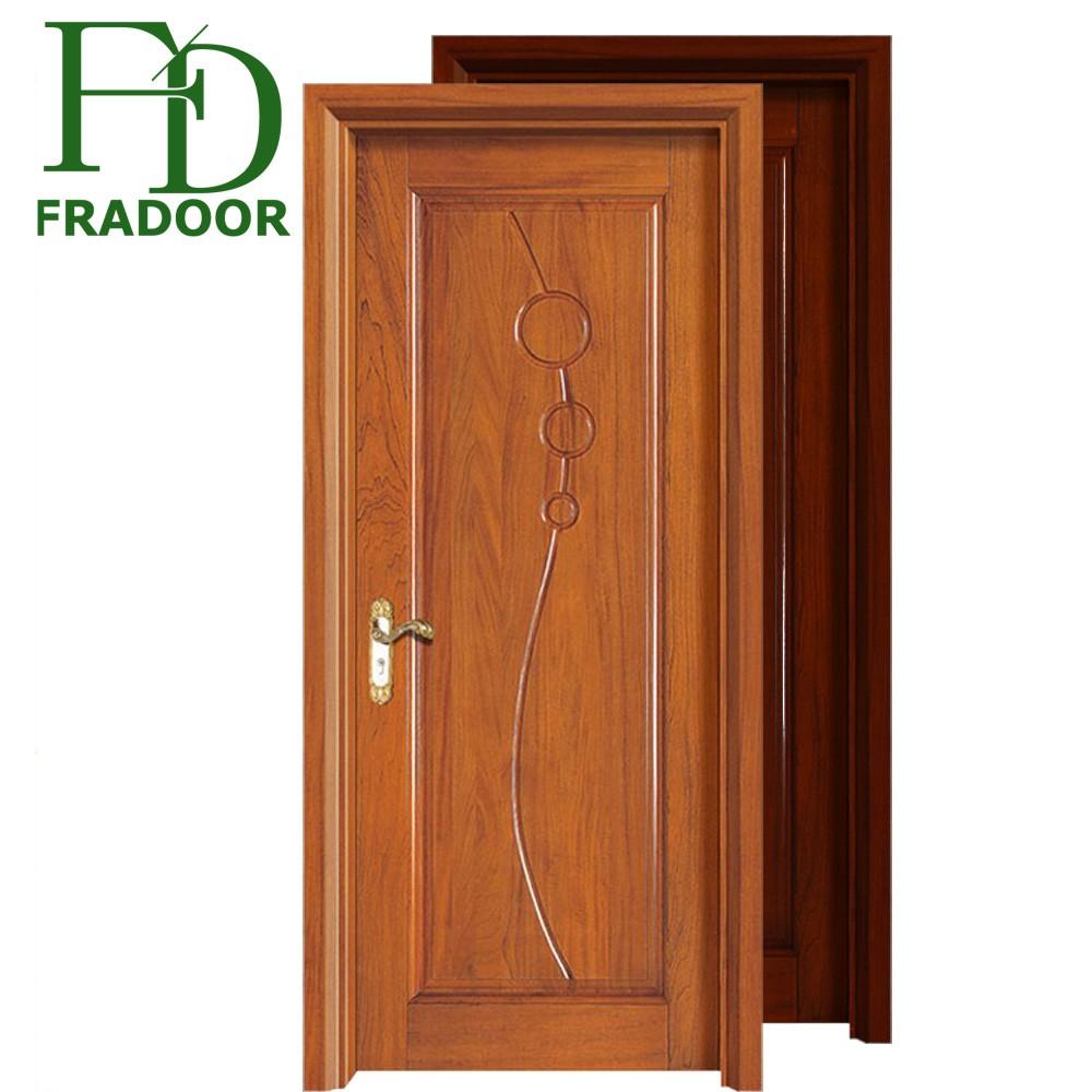 Latest Design Elegant Carving Iran Flash Wood Door With