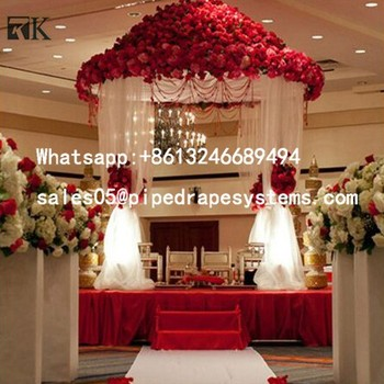 Top Quality Pipe And Drape Kits Indian Wedding Backdrop Decorations For Event