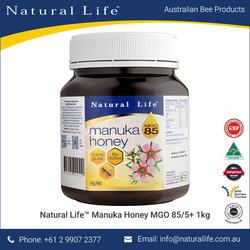 100% Pure Manuka Honey 1kg Certified MGO 85/5+ UMF Natural