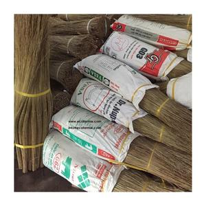 High quality cheap price coconut broom sticks/ Natural coco palm leaf stick for making brooms