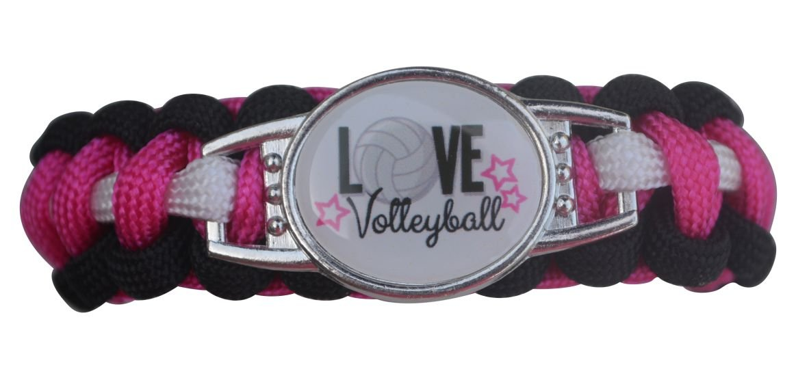Volleyball Paracord Bracelet-Volleyball Bracelet - Girls Volleyball Jewelry - Perfect Volleyball Gifts for Players
