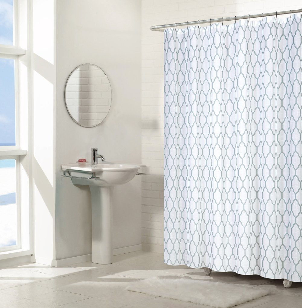 Regal Home Collections Aria Trellis Chic Fabric Shower Curtains