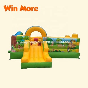 playground inflatable kids used party jumpers fun city for sale,zoo inflatable bouncer slide