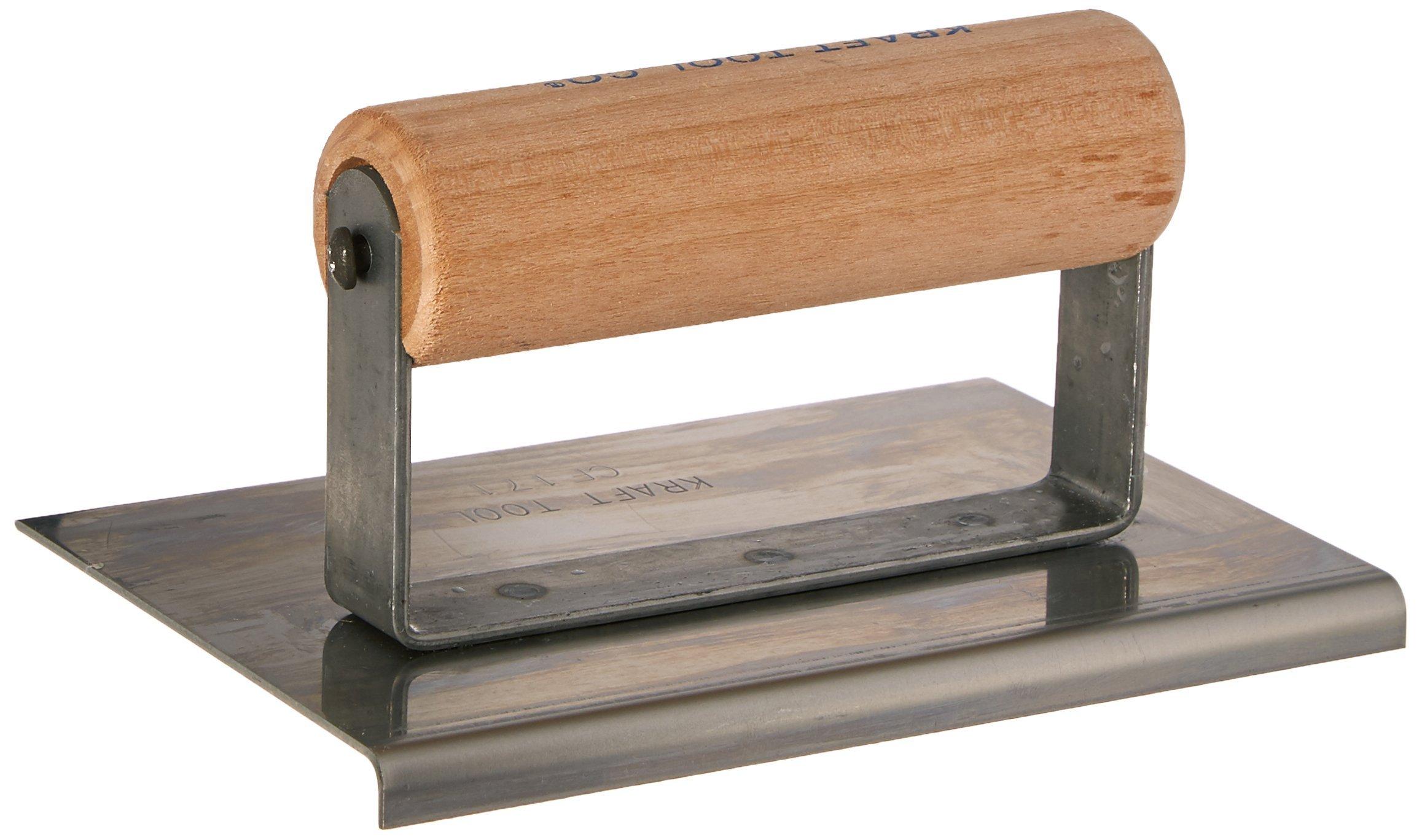 "Kraft CF171 6""x4"" 1/8"" R Cement Edger W/Wood Handle"