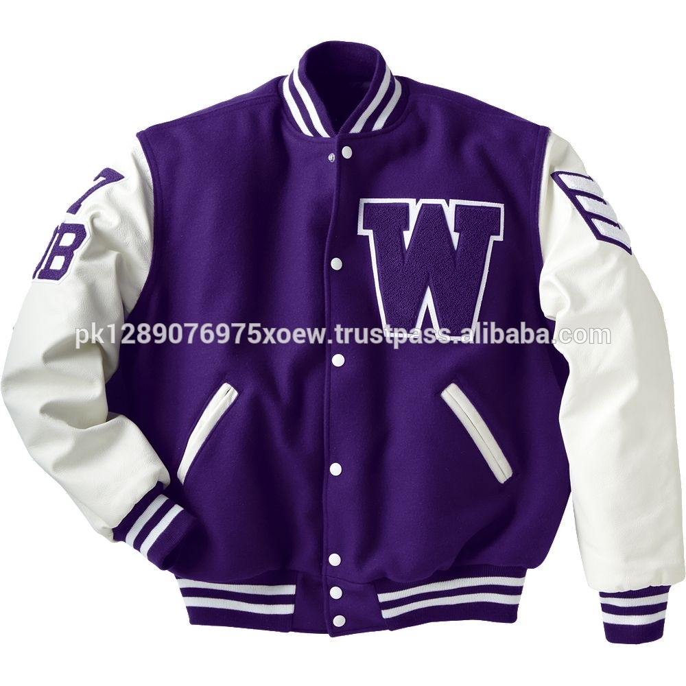 letterman embroidery patches wool leather varsity jackets