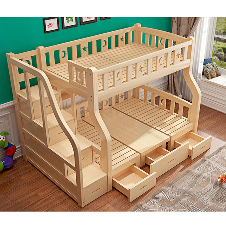 ¡Promoción! litera de madera sólida para niños de nuevo diseño