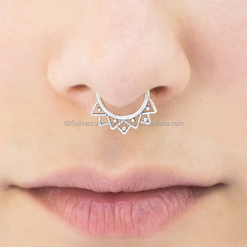 Modern Style Simple Design Attractive Silver Nose Rings Women Body