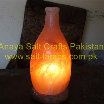 Himalayan Bottle Shape Pink Salt Lamps Crafted Fancy