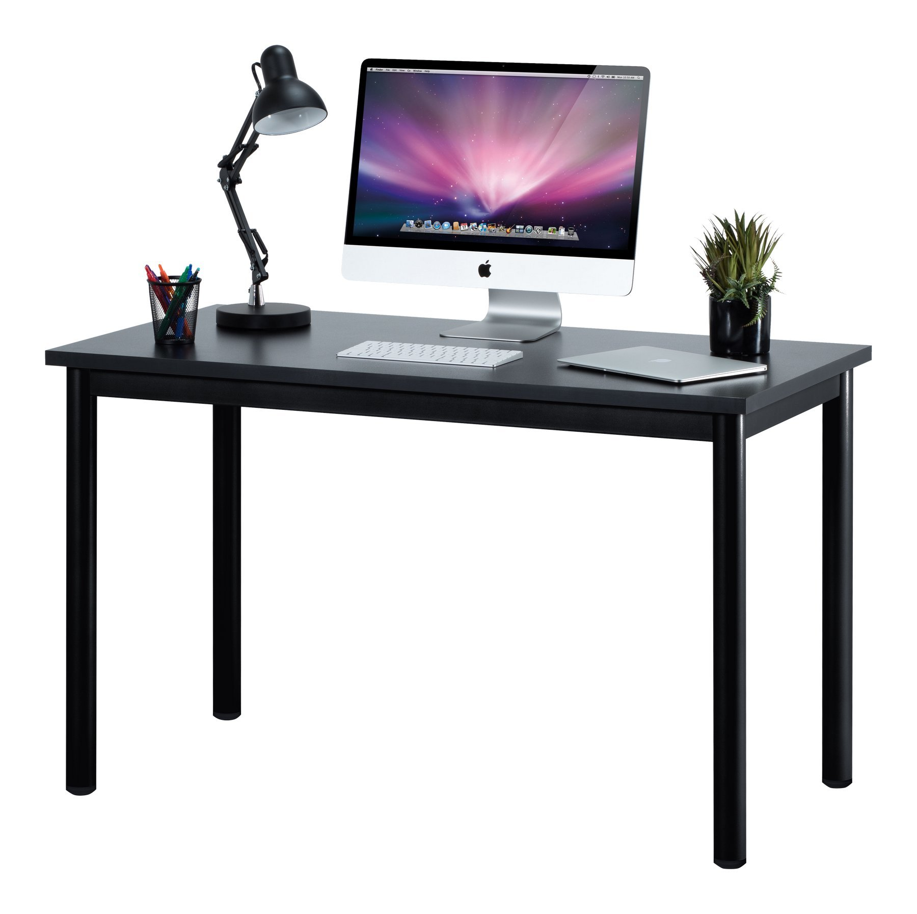 "Fineboard 47"" Home Office Computer Desk Writing Table, Black"