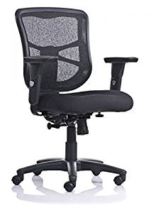 """Enwork Mesh Mid Back Chair 35 5/8"""" To 42""""H X 26 1/2""""W X 23 1/2""""D Seat Height: 18 1/4"""" To 22 1/8"""" Seat Width: 21"""" Seat Depth: 19"""" Back Height From Seat: 19 1/4"""" - 22"""" - Black"""