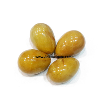 Yellow Aventurine yoni Eggs : Wholesale Gemstone Agate Eggs from Anabia Agate