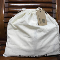 Soft breathable cotton dust proof drawstring storage pouch bag