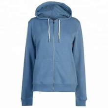 Soft cotton polyester zip up sports hoddie hoodies for women
