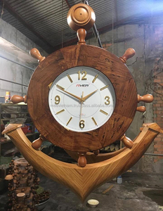 CLOCK DECORATION BY STEERING WHEEL, UNIQUE CRAFT OF VIETNAM - WOODEN HANDICRAFT PRODUCT FOR HOME DECORATION