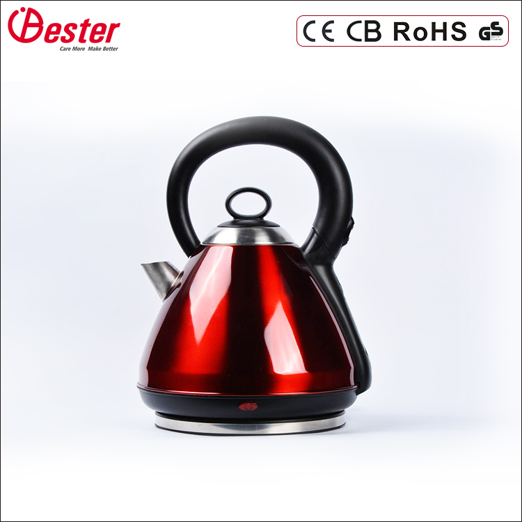 2.5 L big nozzle and big mouth stainless steel electric water kettle for easy clean