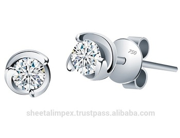 ae48be7234715 Exclusive 1.00 Tcw SI2 Clarity Solitaire Real Natural Diamonds Unique Stud  Earring 18Kt White Gold at Wholesale price, View diamond stud earrings, ...