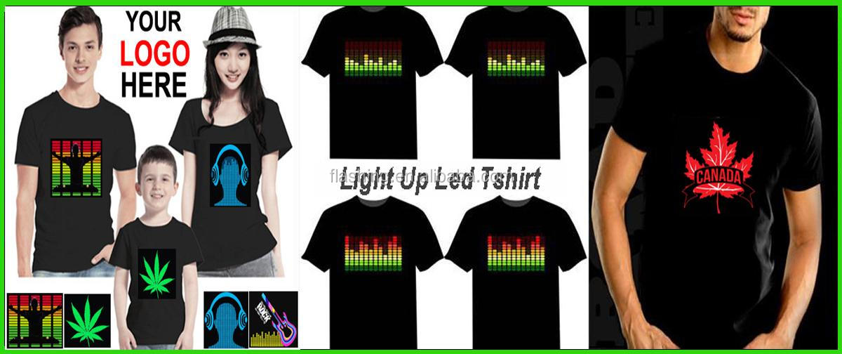 High quality led music light t shirt, t shirt led display