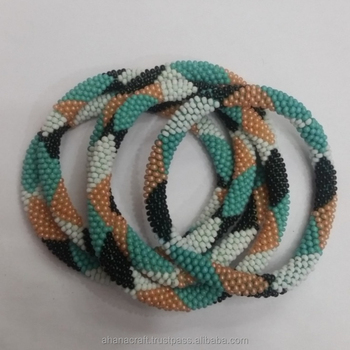 Roll On Beaded Bracelet Made In Nepal R 011