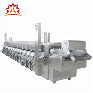 Continuous Potato Chips Frying Machine Automatic French Fries Fryer