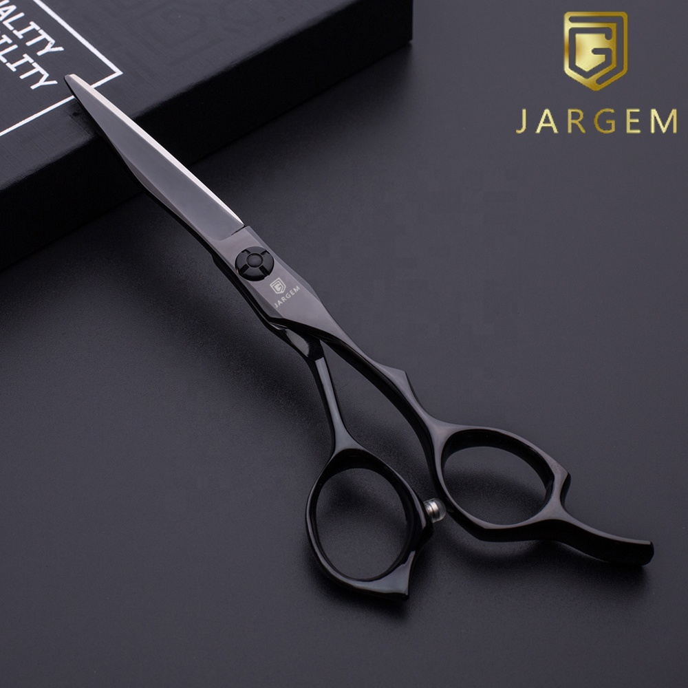 Pretty cool black coating hair scissors professional 5.75 inch hairdressing scissors