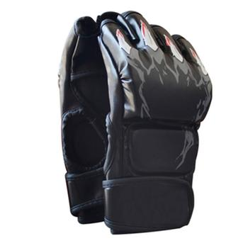 MMA Gloves half finger leather gloves Sports Fighting grappling gloves MMA mitts