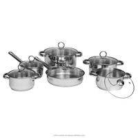 Stainless Steel Cookware Sets 12 pieces
