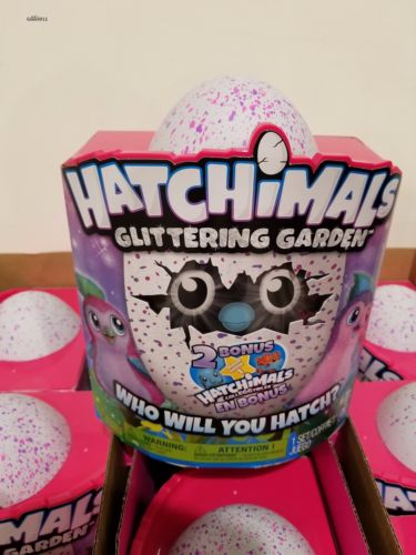 Hatchimals Glittering Garden Owlicorn With Unicorn Crystal Nest TRU Exclusive