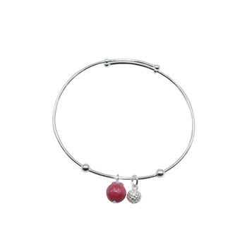 silber schmuck 925 gemstone crystal bangle chalcedony jewellery for women