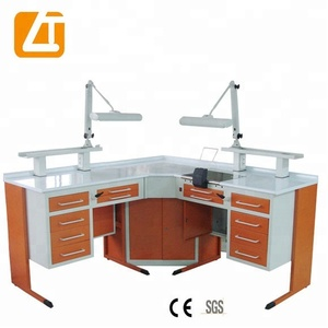 LT-D01 Dental Lab Technician Bench for 2 person dental laboratory furniture