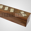 Handmade Wooden Dominoes Set & Five Dice with a Game Storage Box /Wooden games/Kids games/