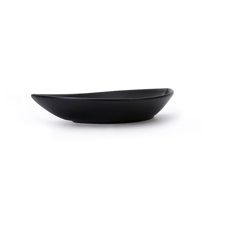 product-Two Eight-Unique Design Porcelain Matt Black Dish For Restaurants Hotelware, Two Eight Ceram-1